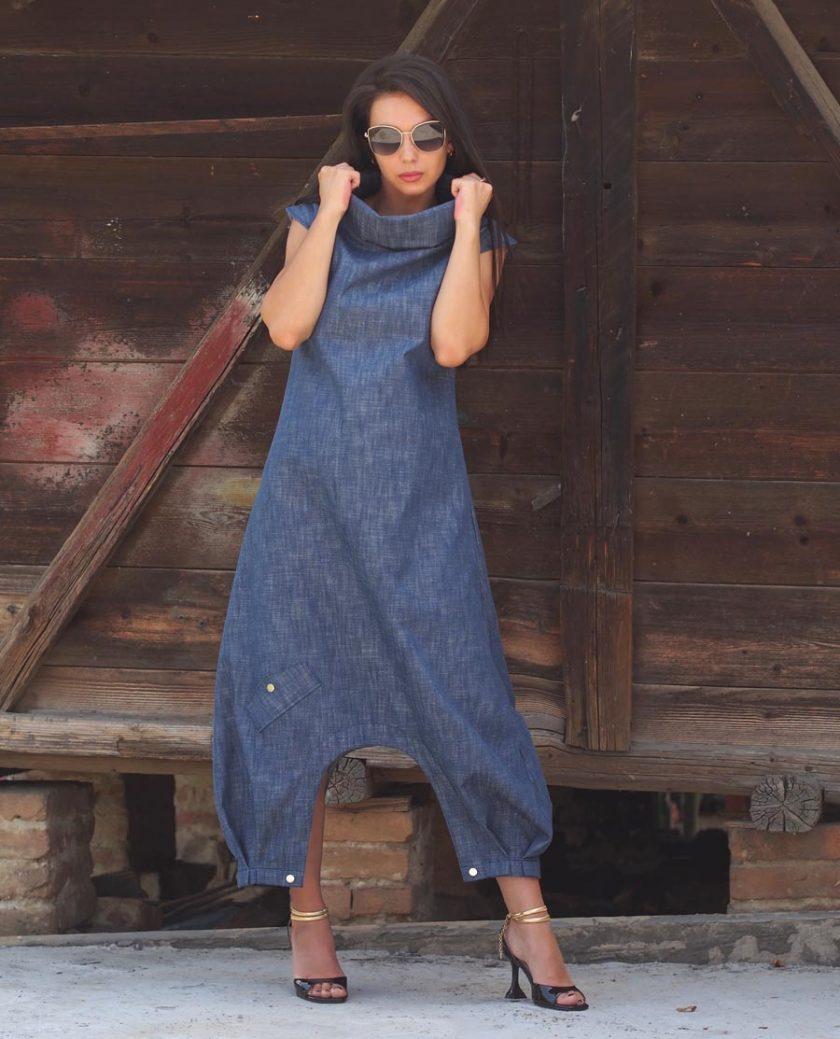 Women maxi dress,Long maxi denim dress,Denim maxi dress,Plus size dress,Extravagant maxi dress,Maxi dress women