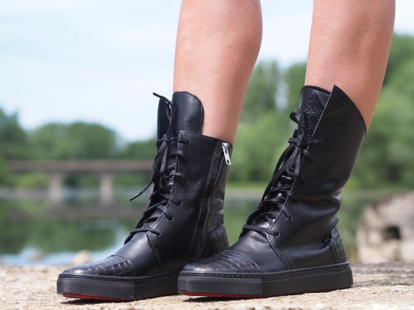 women genuine leather boots