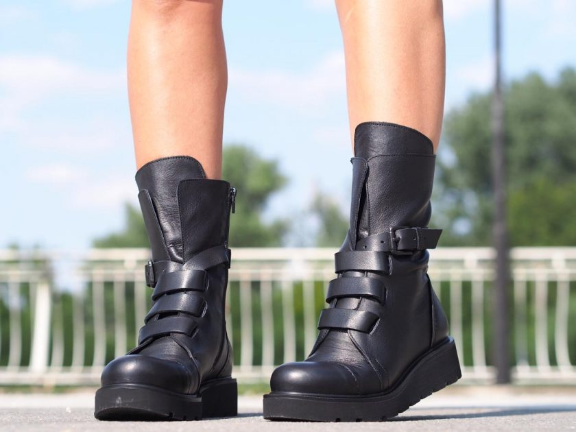 Black genuine leather boots, Women genuine leather boots, Winter genuine leather boots for women, extravagant leather boots