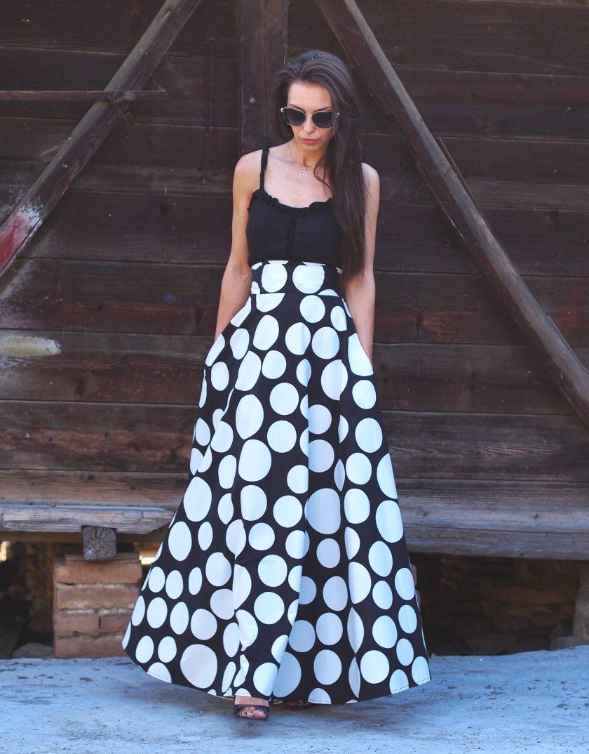 Extravagant Summer Maxi Skirt,Women Maxi Skirt,Long Maxi Women Skirt,Avantgarde Maxi Skirt