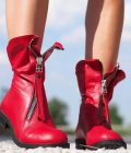 Red genuine leather boots/woman genuine leather boots/red winter boots,EXTRAVAGANT LEATHER BOOTS