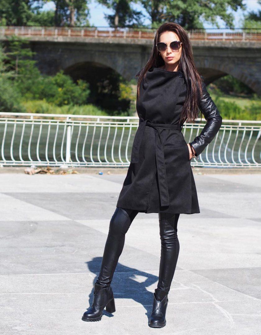 Extravagant long coat,Women trench coat,Black Long coat, Women leather coat, Black long coat women,Trench coat Women