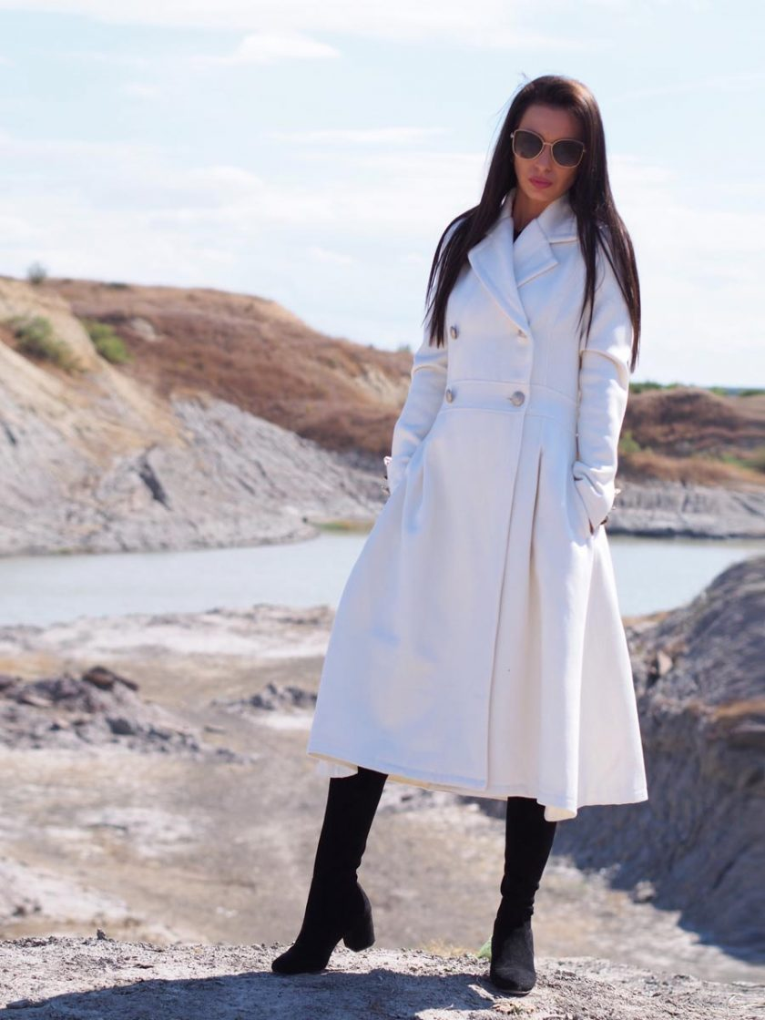 Long wool coat women,Women wool coat,White cashmeere coat,long cashmere coat,Extravagant long wool coat,Women cashmeere coar,Wool coat women