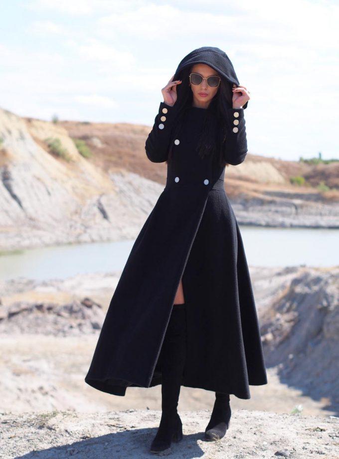 Long Wool coat women,Long cashmere coat,women wool coat,black wool coat,black cashmere coat,plus size wool coat,maxi coat,winter coat