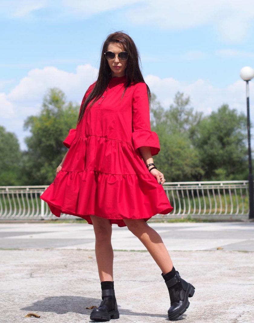 Women maxi dress,Red maxi dress,Oversize dress,Extravagant maxi dress,Long sleeve dress,Plus size dress,Maxi dress women