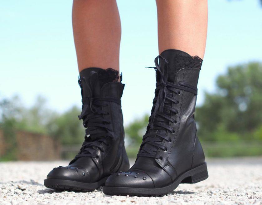 Women Genuine leather boots, Black genuine leather boots, Women boots, Black leather boots, Leather boots women
